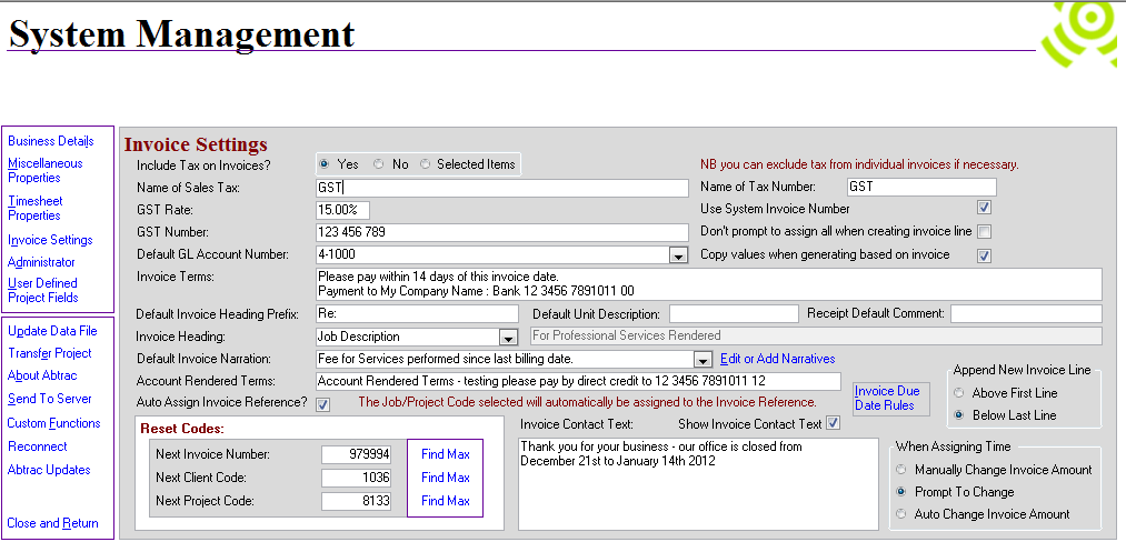 Invoice Reference Fields Abtrac Knowledge Base - Invoice reference
