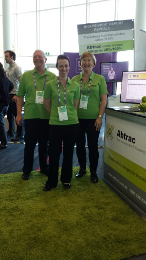 Ed, Pam and Jennifer at the Gold Coast Abtrac stand.