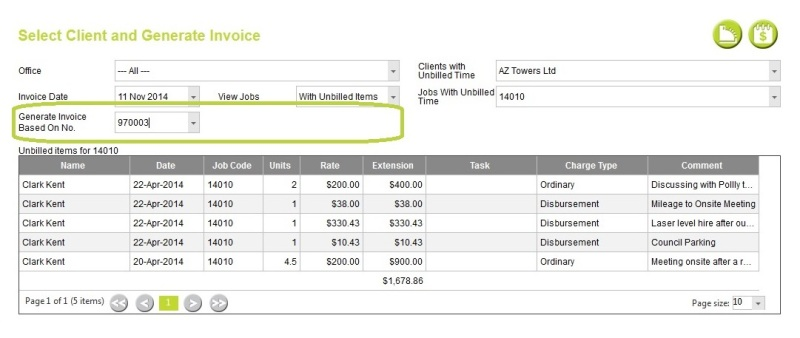 Cloud: Generate Based On Invoice