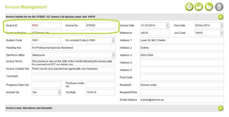 Cloud: Invoices > Edit Invoice Details