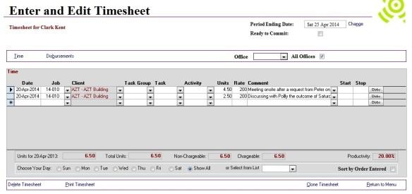 Streamline your timesheet layout - Abtrac 5