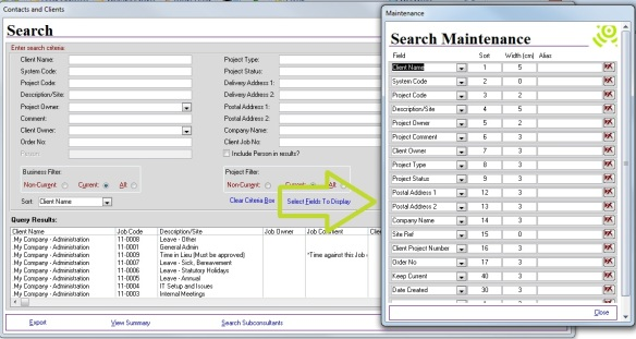 Select Search results layout – Abtrac5