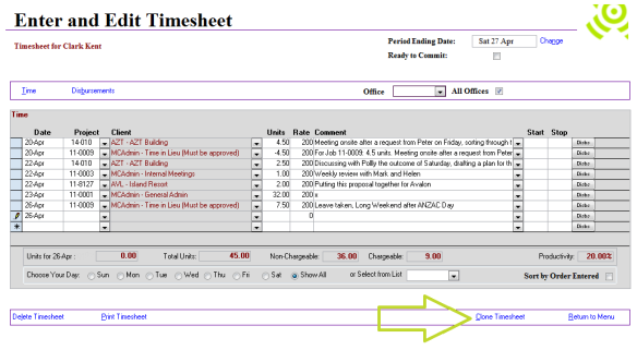 Abtrac5 - Clone timesheets