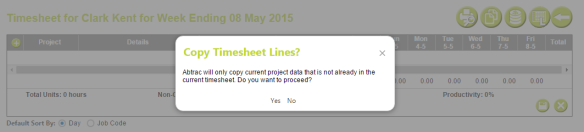 AbtracOnLine - Clone Timesheet confirm data