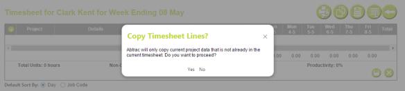 AbtracOnLine - Clone Timesheet confirm data