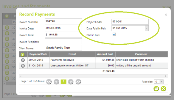 Amend Completed Invoice Payments - AbtracOnLine