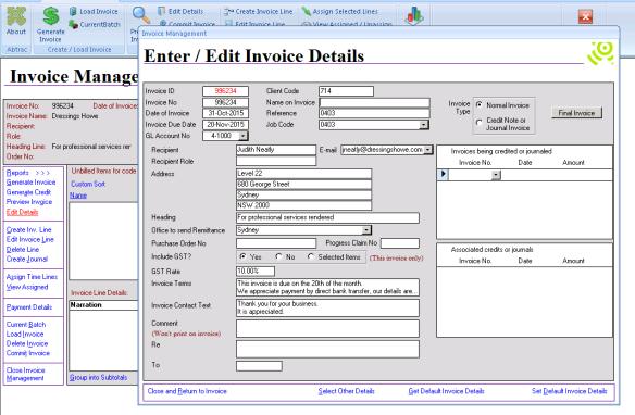 Abtrac5 - Address on invoice