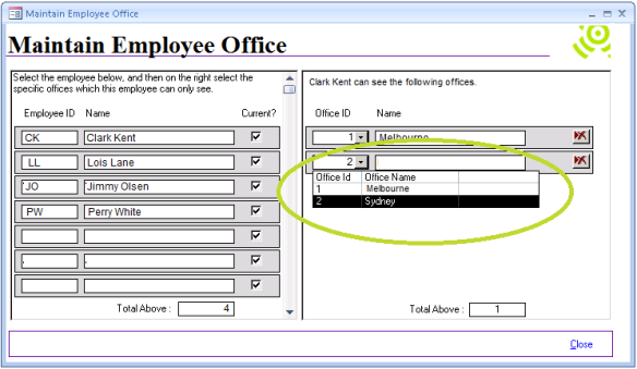 Abtrac5 - Assign and Maintain Employee Offices