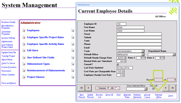 Abtrac5 - Employee Details