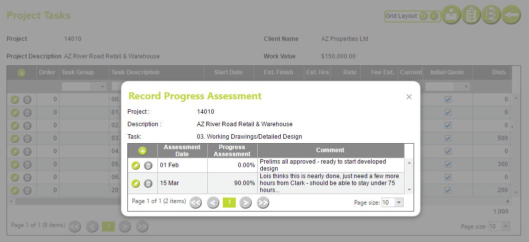 AbtracOnLine - Task Progress Assessment