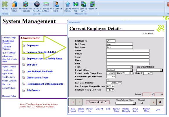 Abtrac5 - Employee Rates