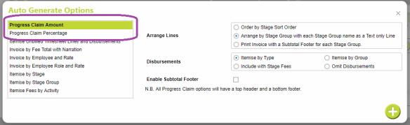 Auto Generate Invoice Options