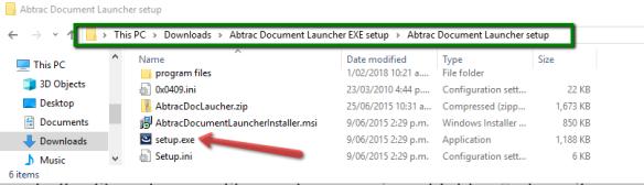 Setup File Installation